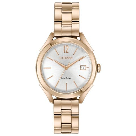 Citizen Women's FE6143-56A 'LTR' Rose Gold-Tone Stainless Steel Watch