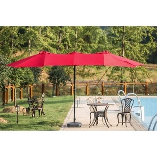Twin 9' x 15' Rectangular Market Umbrella
