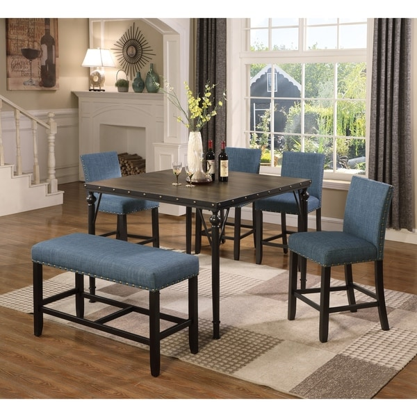 Dining Sets For 6: Shop Biony Counter Height 6-Piece Espresso Wood Dining Set