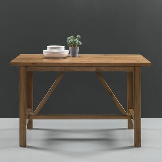 Priage Detailed Dining Table in Natural Finish