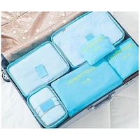 Packing Cubes for Luggage Travel Clothes Storage Bags, Organizer pouch. 6pc set (Turquoise)