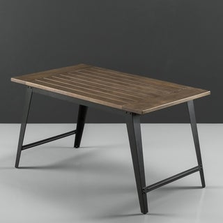 Priage Pine Wood Steel Legs Dining Table