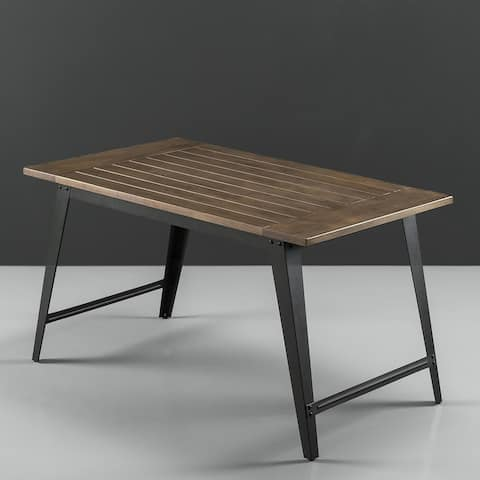 Priage by Zinus Wood and Metal Dining Table