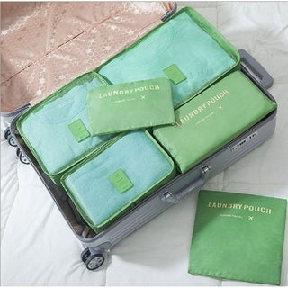 Packing Cubes for Luggage Travel Clothes Storage Bags, Organizer pouch. 6pc set (Cream)