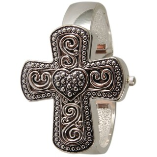 Olivia Pratt Women's Cross and Heart Cuff Watch