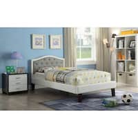 ACME Rheanna Full Bed in Gray and White Faux Leather
