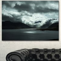 Designart 'Stormy Iceland in the Summer' Seashore Art Print on Canvas