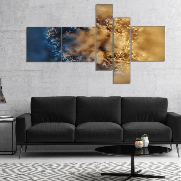 Designart 'Large Macro Prickly Texture Brown' Abstract Canvas Wall Art