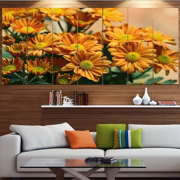Designart 'Bright Yellow Flowers in Garden' Modern Floral Artwork