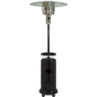 Hanover 7-Ft. 41,000 BTU Steel Umbrella Propane Patio Heater in Black
