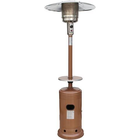 Hanover 7-Ft. 41,000 BTU Steel Umbrella Propane Patio Heater in Autumn Bronze