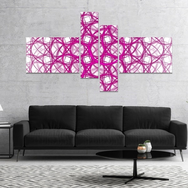Designart \'Pink Unusual Metal Grill\' Abstract Canvas Wall Art - Free ...