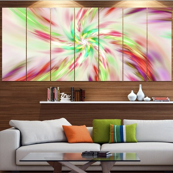 Designart 'Exotic Multi-Color Spiral Flower' Abstract Wall Art on Canvas