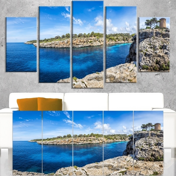 Cove of Cala Pi Mallorca Panorama - Large Seascape Art Canvas Print