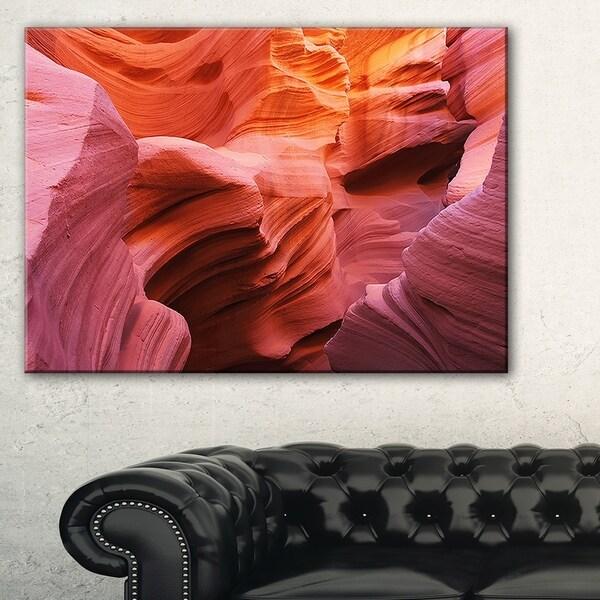Orange Red Antelope Canyon - Landscape Photo Canvas Print