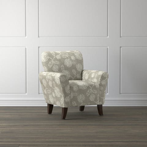 Copper Grove Hannut Taupe Floral Arm Chair