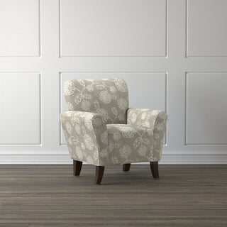 Handy Living Salida Taupe Floral Arm Chair