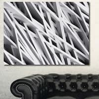 Designart 'White Geometric Wallpaper'Large Abstract Wall Art