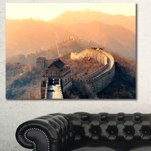 Design Canvas Art Print 'China Great Wall Morning' Extra Large Landscape Canvas Art Print
