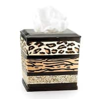 Sweet Home Collection Exotic Animal Print Tissue Box Cover