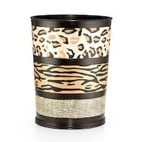 Sweet Home Collection Exotic Animal Print Wastebasket