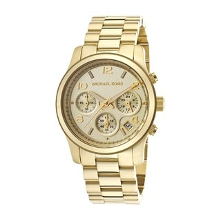Michael Kors Women's MK5055 Runway Chrono Gold Stainless Steel Watch