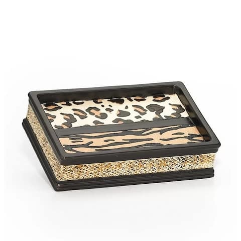 Sweet Home Collection Exotic Animal Print Soap Dish