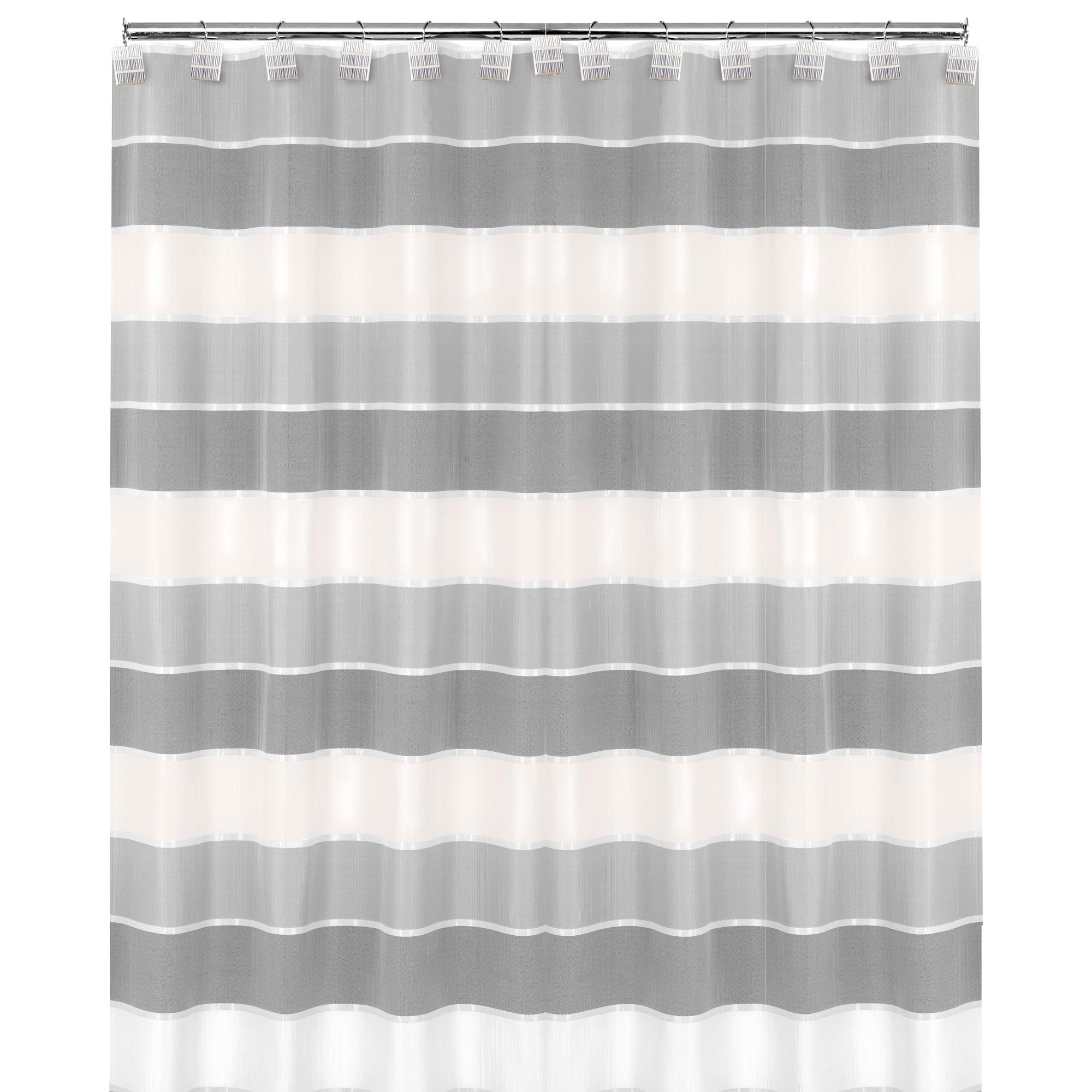 Modern Striped Shower Curtain 70 X72 Grey
