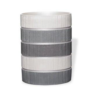 Grey Modern Line Waste Basket