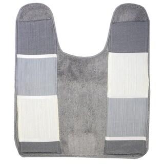 "Modern Line Contour Rug (21""x24"") Grey"