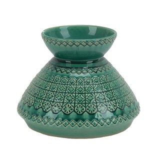 DECORATIVE CERAMIC VASE, AMAZON GREEN