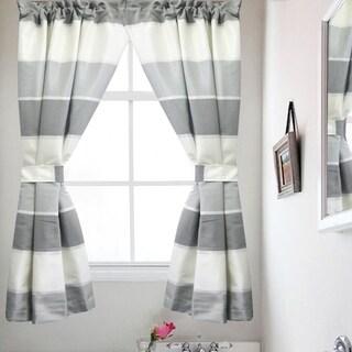 "Modern Line Window Curtain (55""x36"""") Grey"