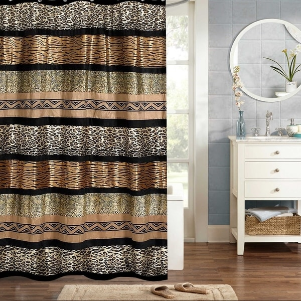 Shop Sweet Home Collection Exotic Animal Print Shower Curtain 70x72