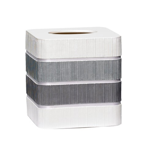 Modern Line Tissue Box Cover- Grey