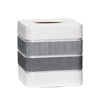 Modern Line Tissue Box Cover- Grey