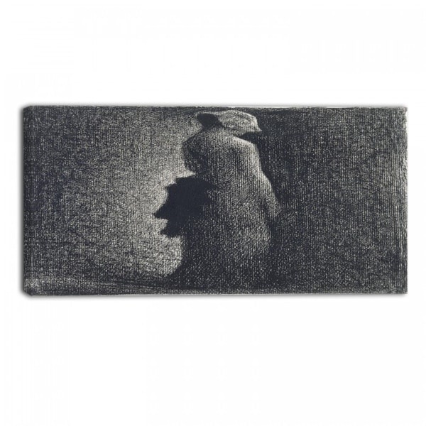 Design Art 'Georges Seurat - The Black Bow' Canvas Art Print