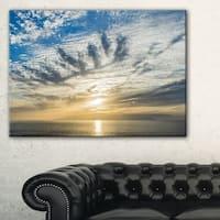 Sunset Sky above Atlantic - Oversized Beach Canvas Artwork