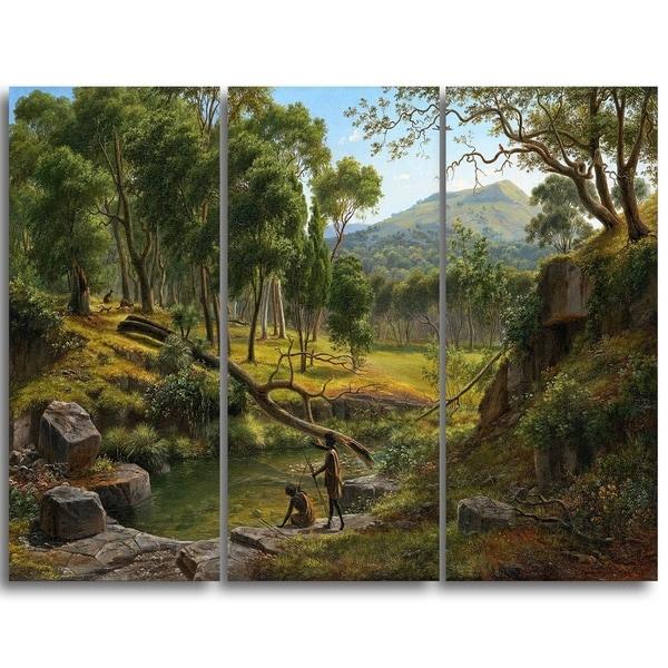 Design Art 'Eugene von Guerard - Warrenheip Hills Near Ballarat' Landscape Canvas Art Print