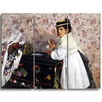 Design Art 'Edgar Degas - Portrait of Mlle.' Canvas Art Print