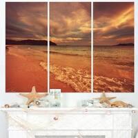 Brown Serene Tropical Beach - Large Seashore Canvas Print