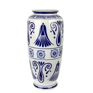 CERAMIC VASE, BLUE/WHITE