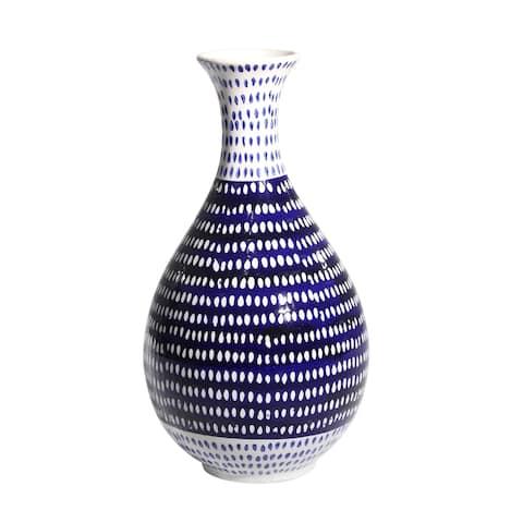 Sagebrook Home Decorative Ceramic Vase, Red/White
