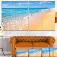 Tropical Blue Sea and Sky - Seashore Photo Canvas Art Print
