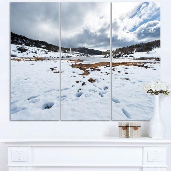 Snow Mountains in Kosciuszko Park - Landscape Art Print Canvas