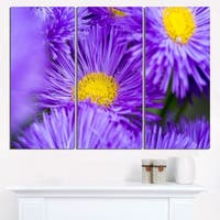 Bunch of Large Violet Flowers - Large Flower Canvas Wall Art