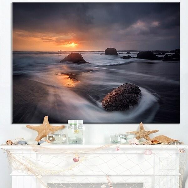 Sunrise in Burgas Bay near Atia - Contemporary Seascape Art Canvas