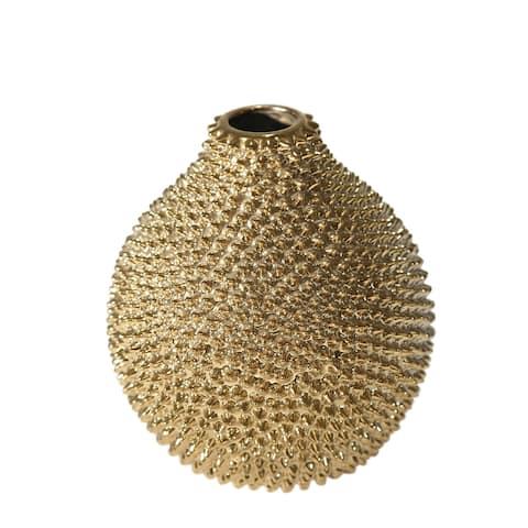 Sagebrook Home Decorative Ceramic Vase, Gold
