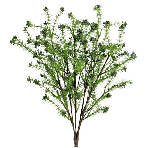 Artificial Berried Spring Rye Flower Bush, Green