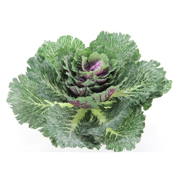"""12""""H Artificial Cabbage Home Kitchen Decoration, Green"""