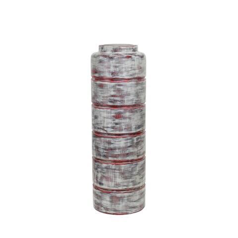 Polyresin Vase, Gray
